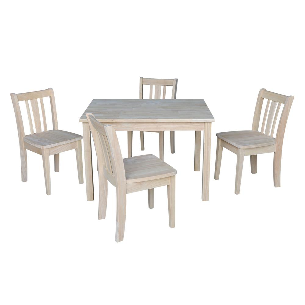 Jorden Ready to Finish 5-Piece Kid's Table and Chair Set