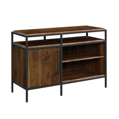 Nova 45 in. Grand Walnut Composite TV Stand Fits TVs Up to 46 in. with Storage Doors