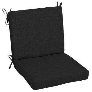 Oak Cliff 22 x 40 Sunbrella Canvas Black Mid Back Outdoor Dining Chair Cushion