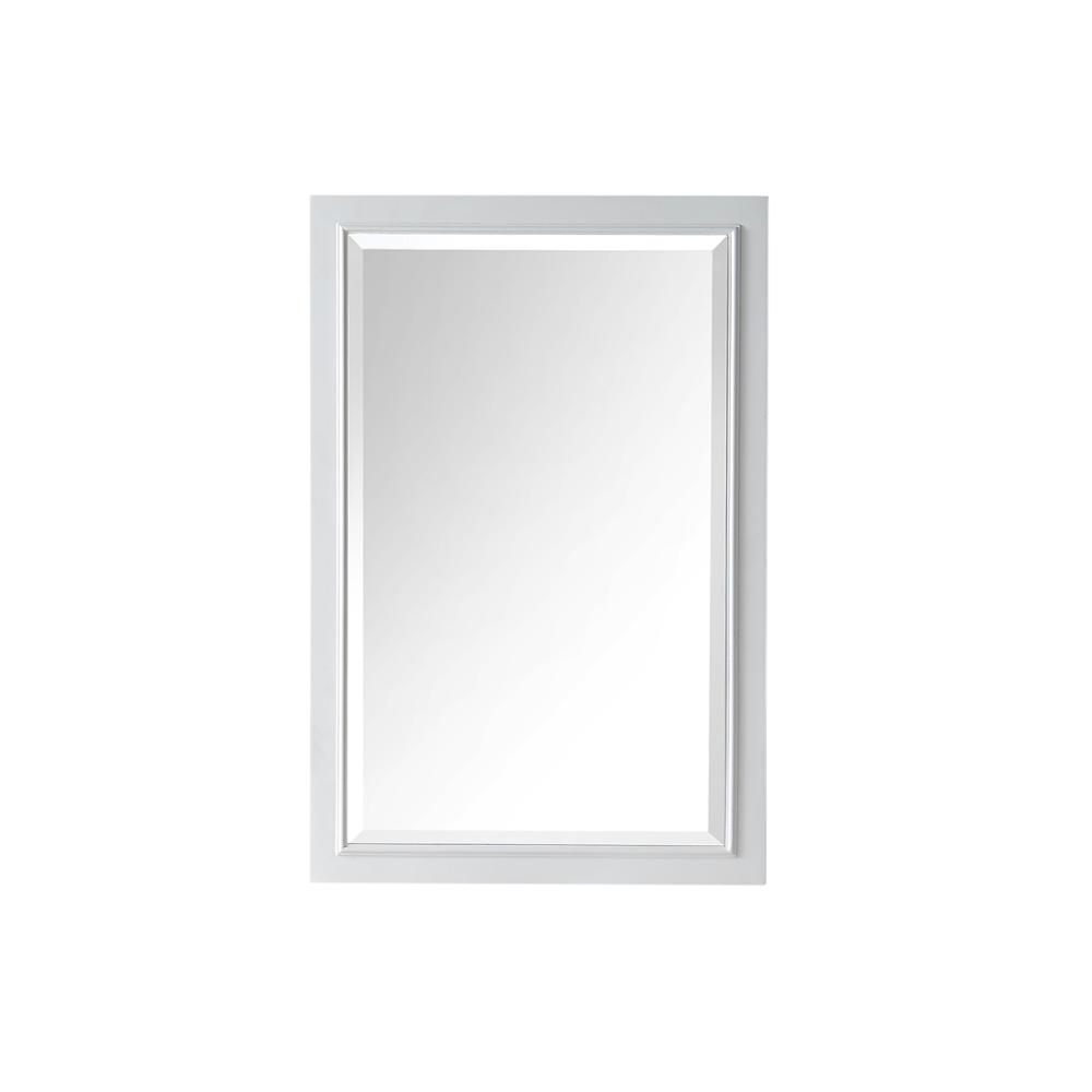 Framed Wall Mirror In White Wh7724 W M