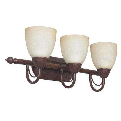 Fiscus 3-Light Oil-Rubbed Bronze Bath Vanity Light