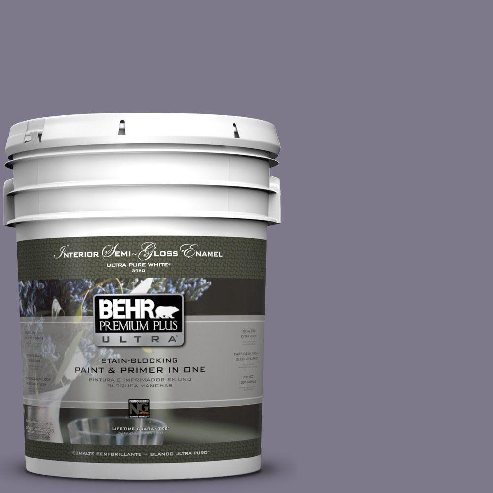 BEHR Premium Plus Ultra 5-gal. #N560-5 Solitaire Semi-Gloss Enamel Interior Paint