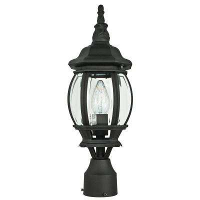 Finnegan 1-Light Black Outdoor Post Lantern