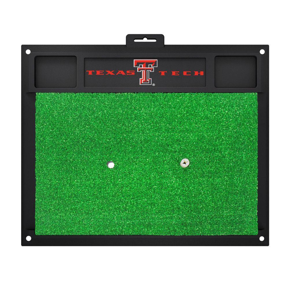 NCAA Texas Tech University 17 in. x 20 in. Golf Hitting Mat