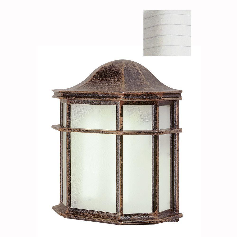 Andrews 1-Light White Outdoor Wall Mount Lantern