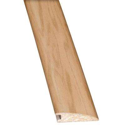 Oak Ivory/Alabaster 3/8 in. Thick x 2 in. Wide x 78 in. Length Hardwood Flush Mount Reducer Molding