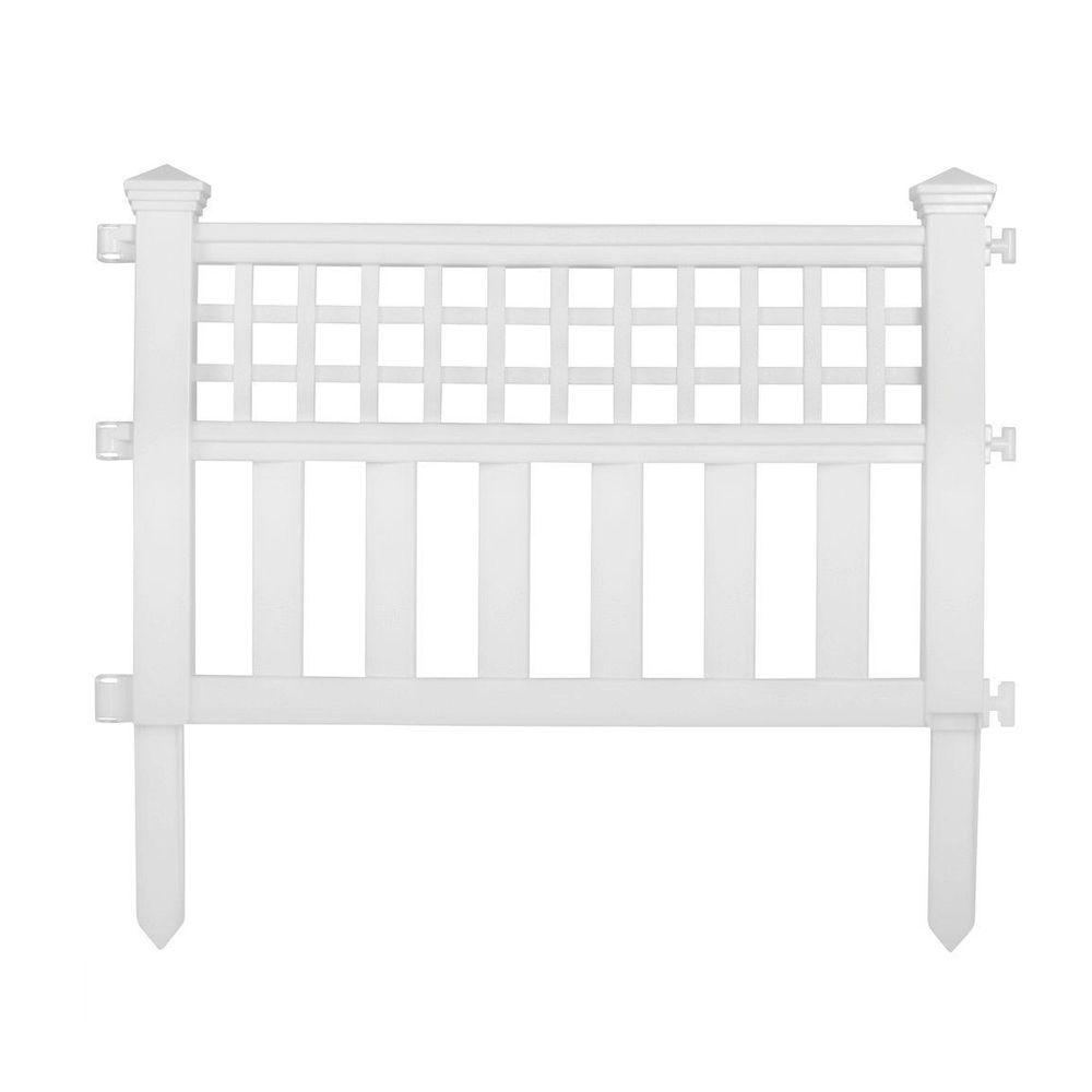 Suncast Grand View 14 In Resin Garden Fence Cplgvf24 The Home Depot