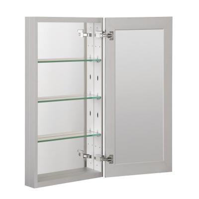 15 in. x 36 in. Recessed or Surface Frameless 1-Door Medicine Cabinet with 3-Adjustable Shelves