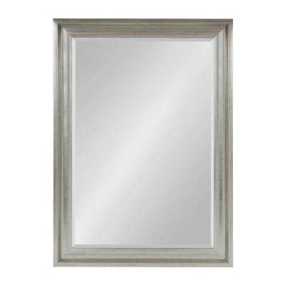 Umber Rectangle Silver Mirror