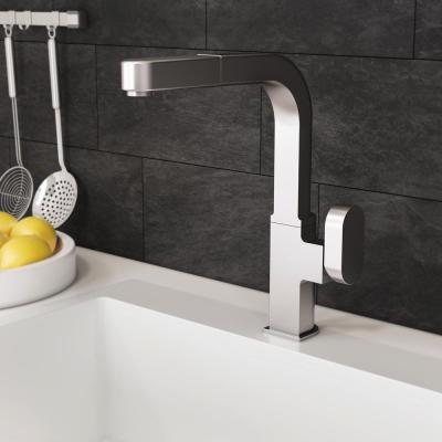 Azura Single-Handle Pull Out Sprayer Kitchen Faucet with CeraDox Technology in Brushed Nickel
