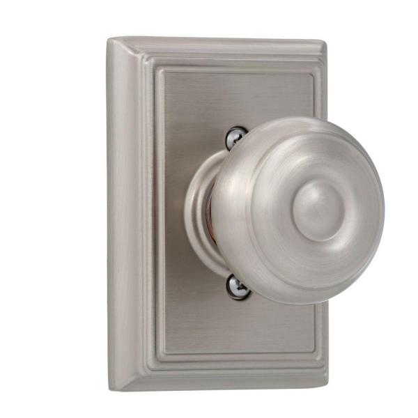 Georgian Satin Nickel Dummy Door Knob with Addison Trim