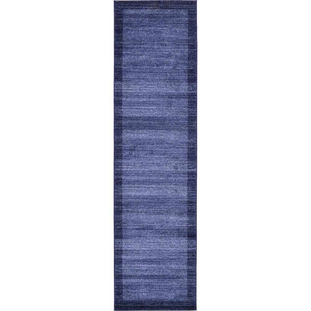 Unique Loom Del Mar Abigail Navy Blue 2' 7 x 10' 0 Runner Rug