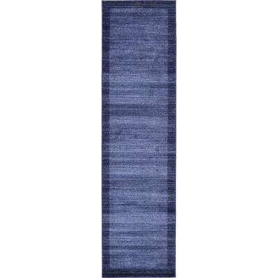 Del Mar Abigail Navy Blue 2' 7 x 10' 0 Runner Rug