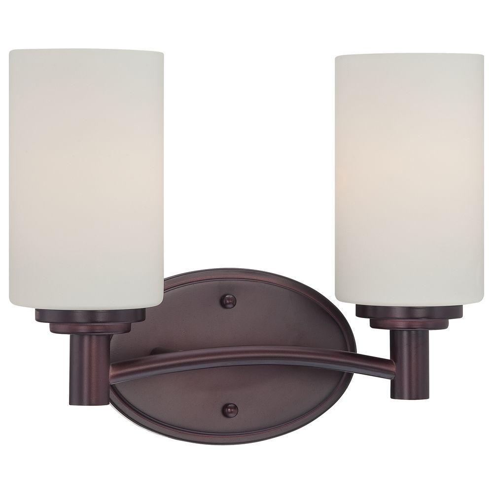 Pittman 2-Light Sienna Bronze Wall Vanity Light