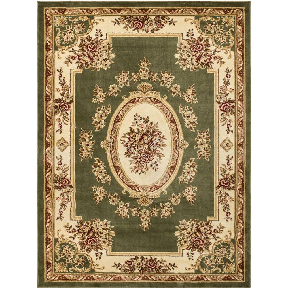 Well Woven Timeless Le Pe Palais 5 Ft 3 In X 7 Traditional Medallion Green Area Rug
