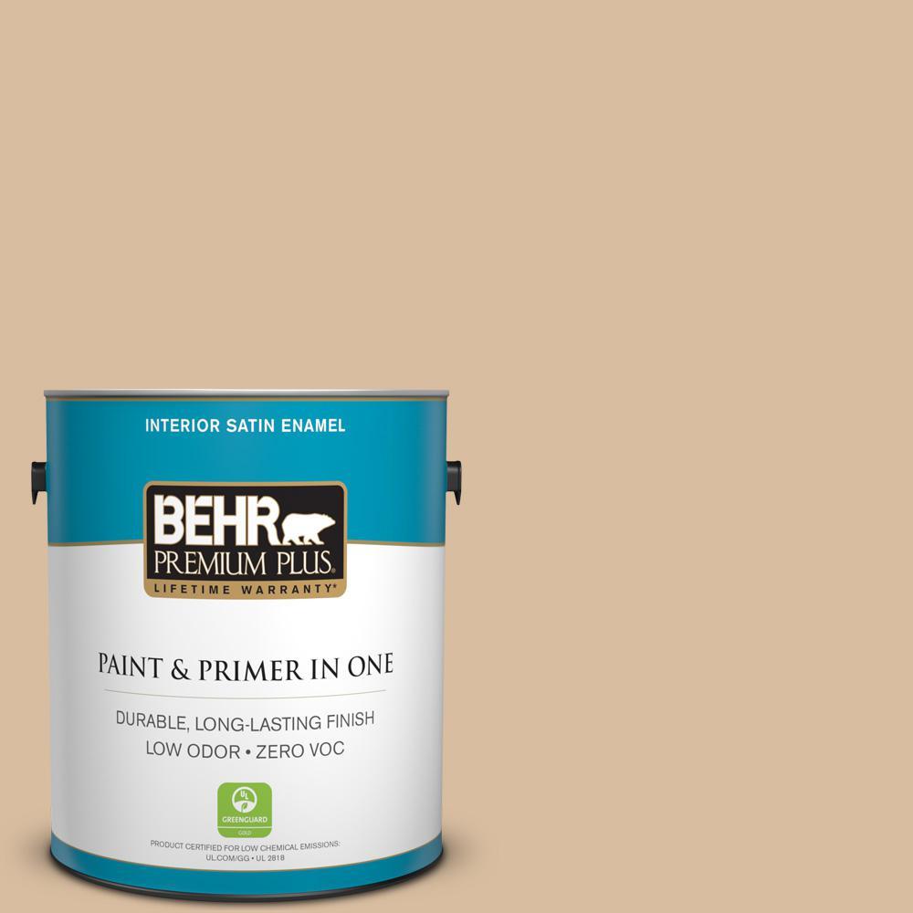 1 gal. #PPU4-14 Renoir Bisque Zero VOC Satin Enamel Interior Paint