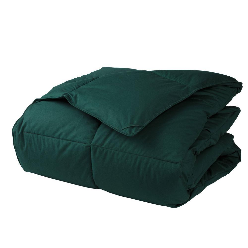 LaCrosse LoftAIRE Light Warmth Forest Green Queen Down Alternative Comforter