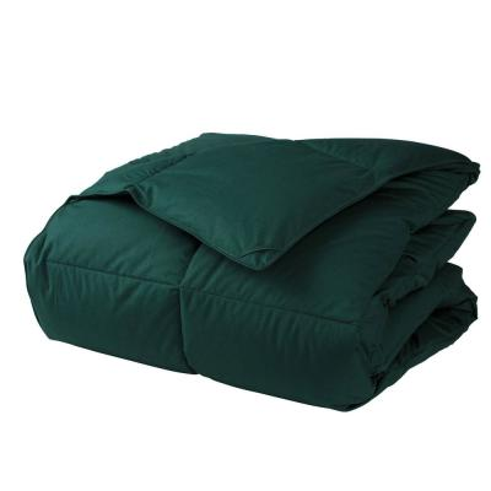 LaCrosse LoftAIRE Extra Warmth Forest Green Queen Down Alternative Comforter