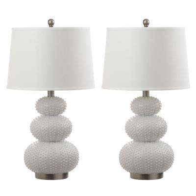 Rita 28.5 in. White Table Lamp (Set of 2)