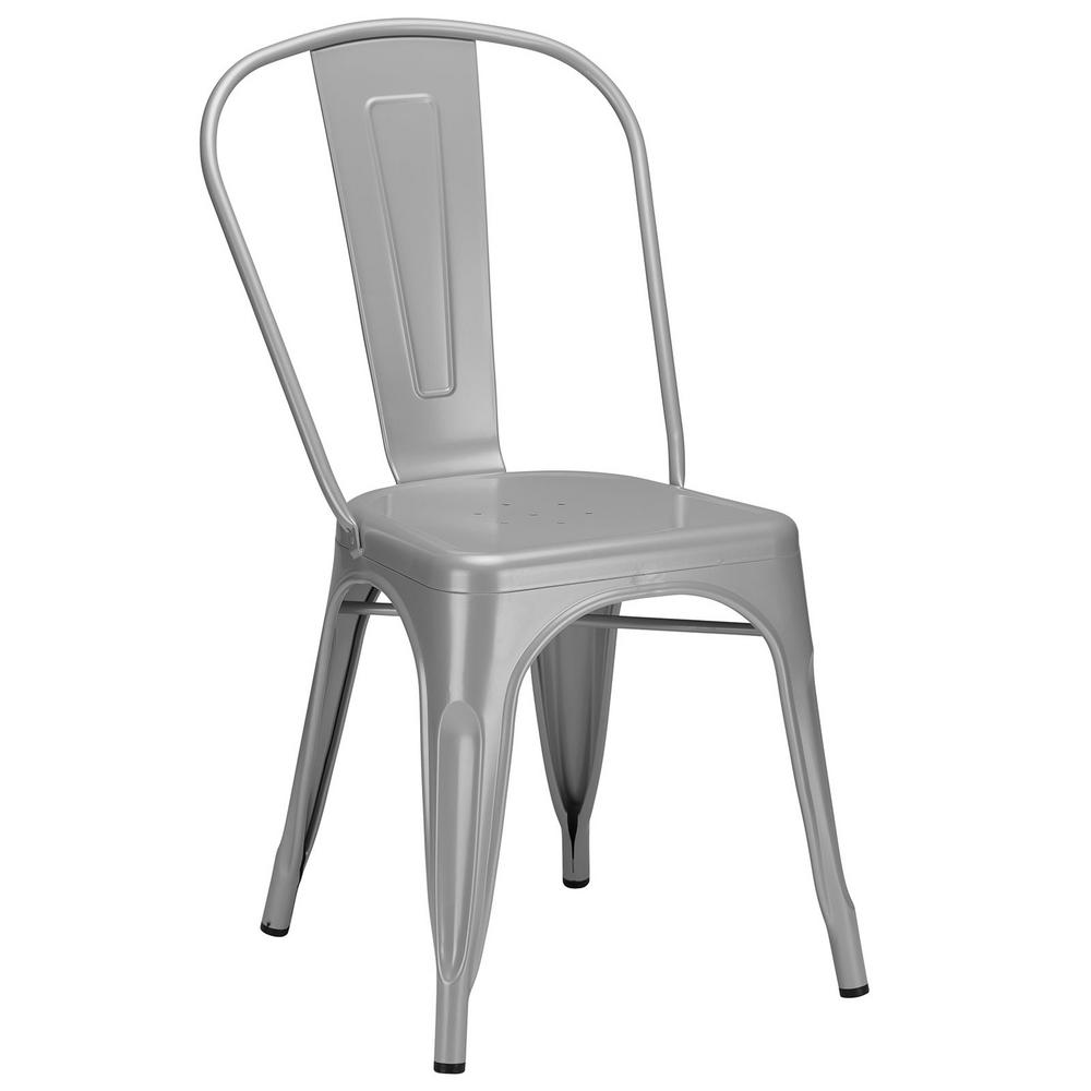 Poly and Bark Trattoria Grey Side Chair-EM-112-GRY - The Home Depot