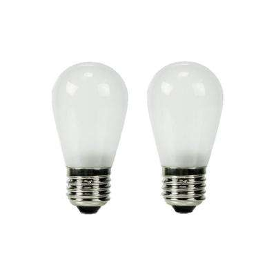11W Equivalent Warm White S14 Frosted Lens Nostalgic LED Light Bulb (2-Pack)