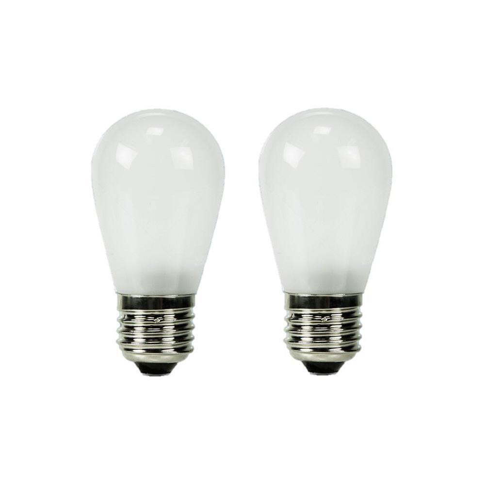 11W Equivalent Warm White S14 Frosted Lens Nostalgic LED Light Bulb (2-Pack)