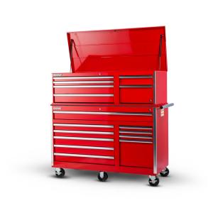 International Tech Series 56 inch 16-Drawer Tool Chest Combo, Red by International