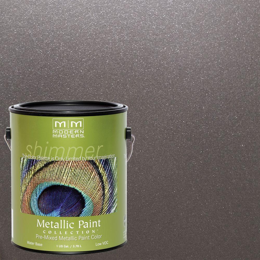 1 gal. Smoke Water-Based Satin Metallic Interior/Exterior Paint