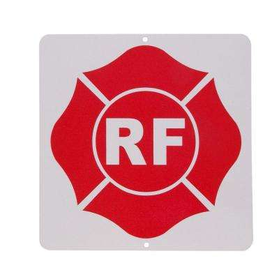 9 in. x 9 in. Roof Truss Aluminum RF-Sign
