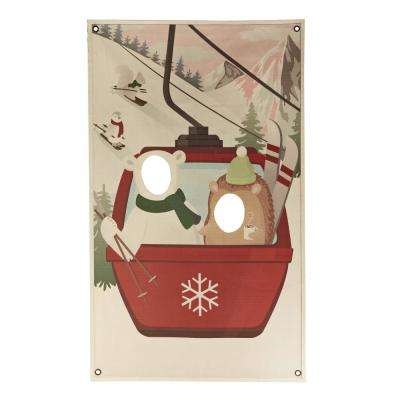 Martha stewart living holiday decorations the home depot 73 in ski scene photo banner negle Choice Image