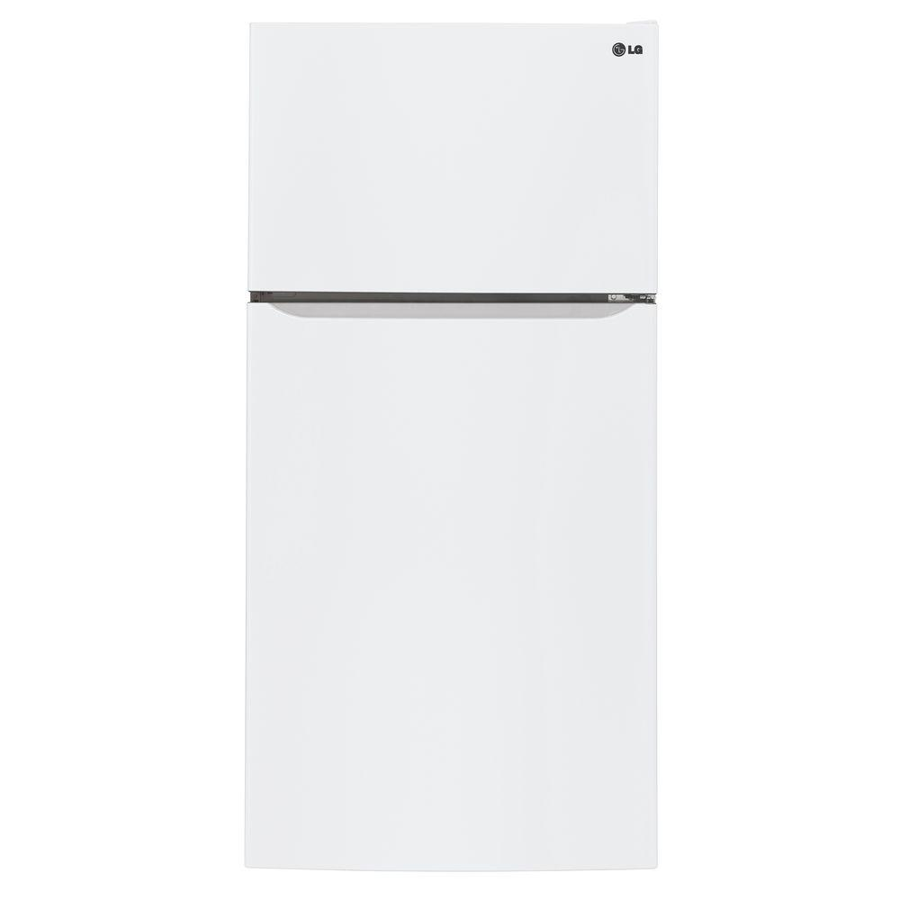 LG 30 in. W 20 cu. ft. Top Freezer Refrigerator in Smooth...