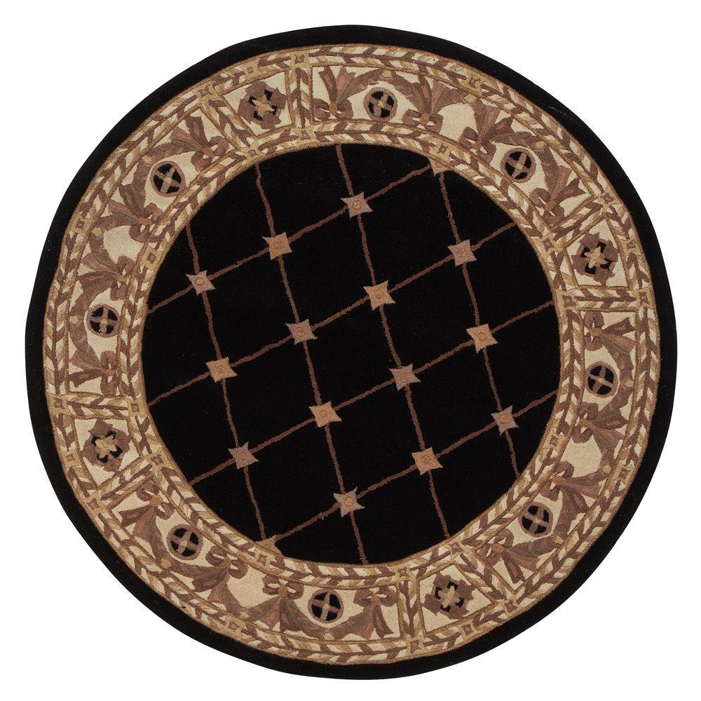 Home Decorators Collection Windsor Black 5 ft. Round Area Rug