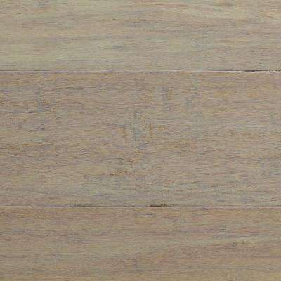 Handscraped Strand Woven Driftwood 1/2 in. x 5-1/8 in. Wide x 72-7/8 in. Length Solid Bamboo Flooring (25.93 sq.ft/case)