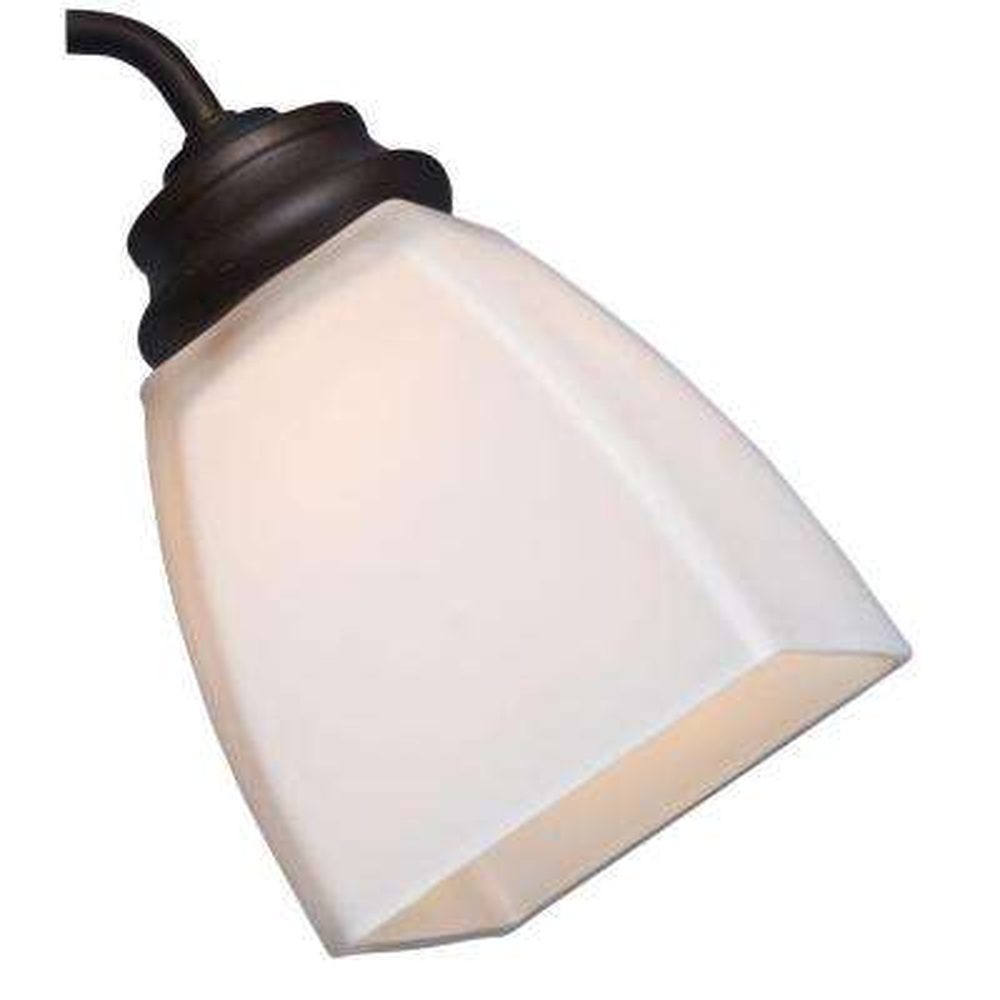 2-1/4 in. Cased White Square Shape Glass Ceiling Fan Light (4-Set)