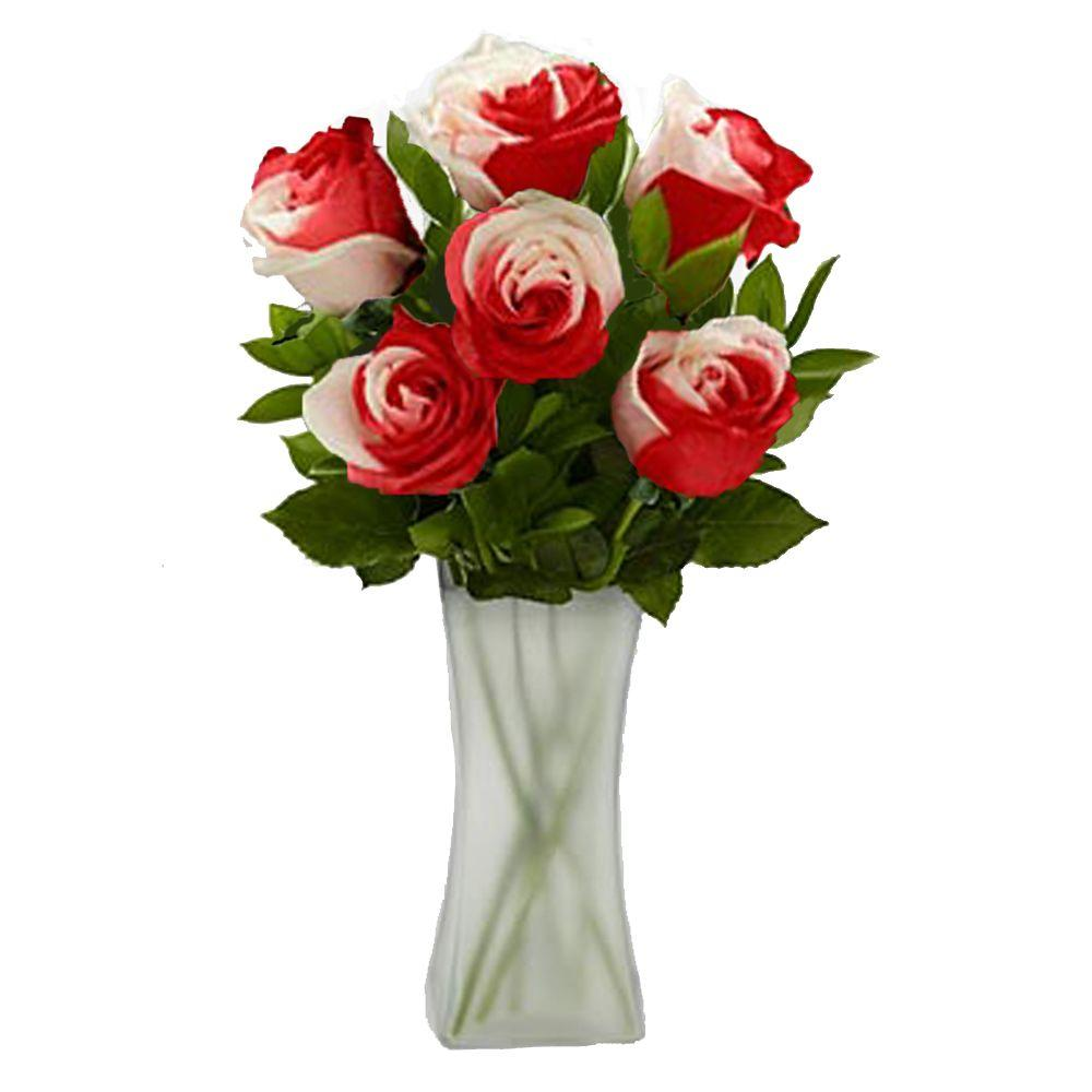 The Ultimate Bouquet Gorgeous Sweetheart Rose Bouquet in Clear Vase (12 Stem) Overnight Shipping Included