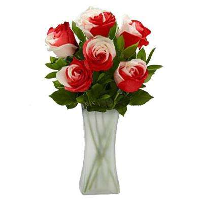 Gorgeous Sweetheart Rose Bouquet in Clear Vase (12 Stem) Overnight Shipping Included