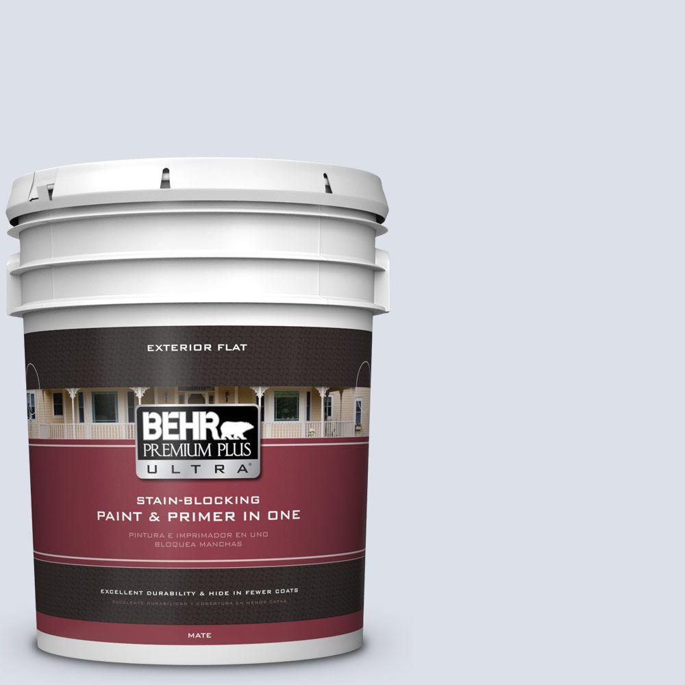 BEHR Premium Plus Ultra 5-gal. #PPL-70 Eastern Breeze Flat Exterior Paint