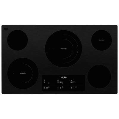 36 in. Radiant Electric Ceramic Glass Cooktop in Black with 5 Elements and Triple Radiant Element