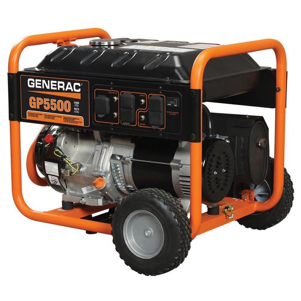 Generac 5,500-Watt Gasoline Powered Portable Generator