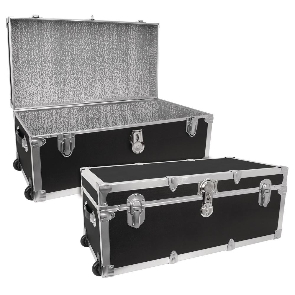 Modern Collection Black Storage Trunk