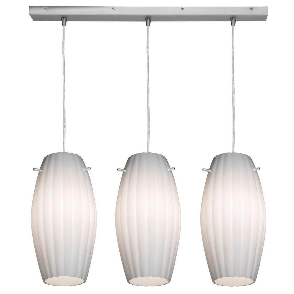 Access Lighting 3-Light Pendant Oil Rubbed Bronze Finish Opal Glass-DISCONTINUED