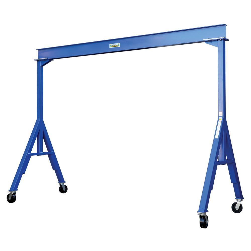 6,000 lb. 10 ft. L Fixed Steel Gantry Crane
