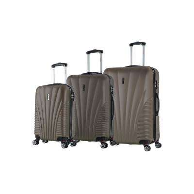 Chicago lightweight hardside spinner 3 piece set 21 & 25 & 29-Brown