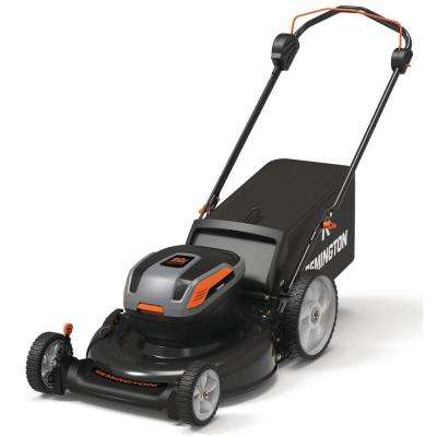 21 in. 40-Volt Lithium-Ion 3-in-1 Cordless Walk Behind Push Mower - 5.0 Ah Battery/Charger Included