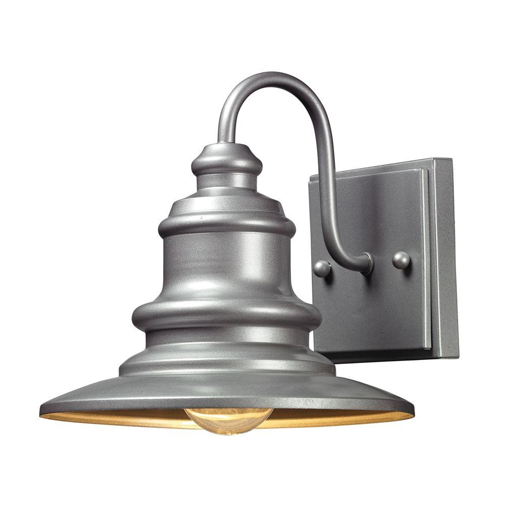 An Lighting Marina 1 Light Outdoor Matte Silver Sconce