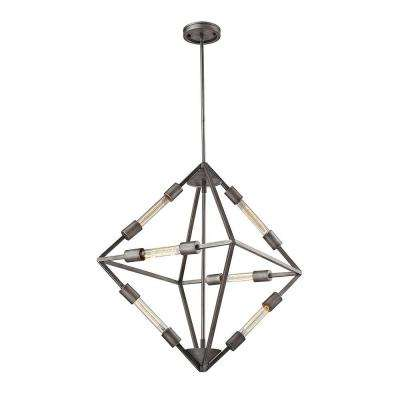 Ripley Collection 6-Light Weathered Zinc Chandelier