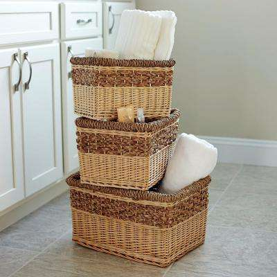 9.9 in x 17.3 in Open Basket Set (3-Piece)
