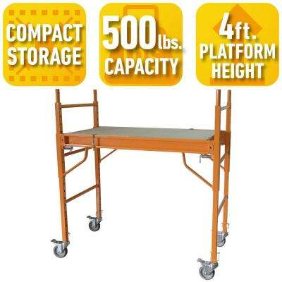 4 ft. x 3.5 ft. x 2 ft. Mini Multi-Use Drywall Baker Scaffold with 500 lbs. Load Capacity