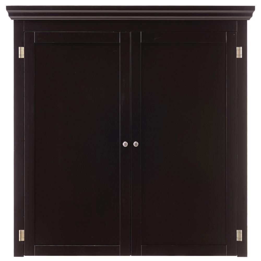 Prescott Solid Black Modular Pantry Open Top