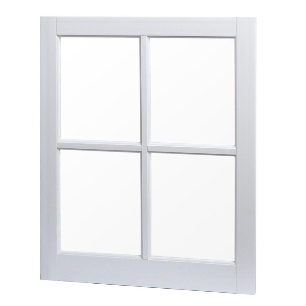 Tafco Windows 24 In X 29 Utility Fixed Picture Vinyl Window With Grid
